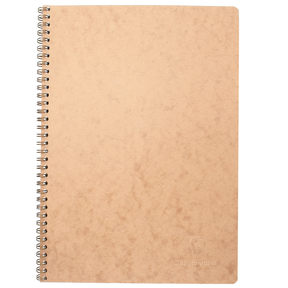 Clairefontaine Basics A4 Side Wirebound Notebook- Tan, Lined