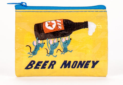 "Blue Q Coin Purse ""Beer Money"""