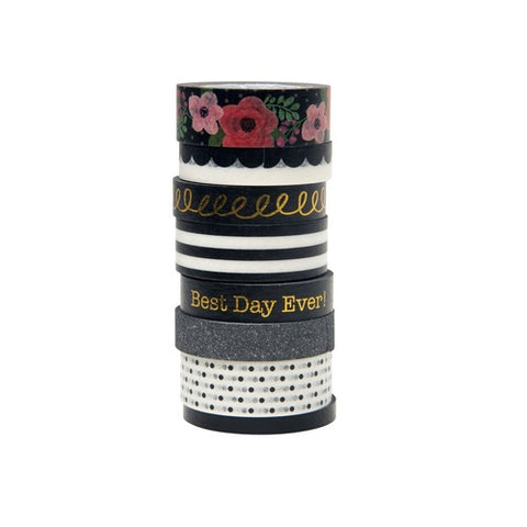 Love+Lemon Craft Co. Best Day Ever Black Washi Tape
