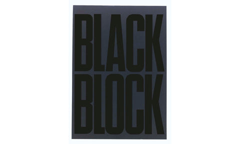 Black Block Yellow A4