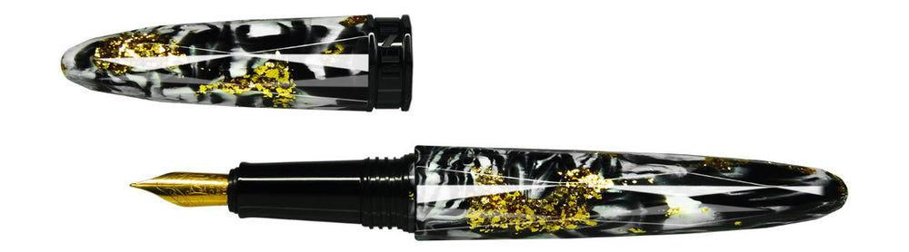 BENU Briolette Collection Black & White Fountain Pen