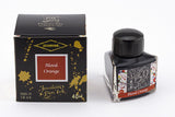 Diamine Blood Orange fountain pen ink is available in a triangular shaped 40ml bottle.