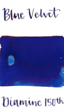 Diamine Blue Velvet is a vibrant, medium blue fountain pen ink that is good for everyday writing.