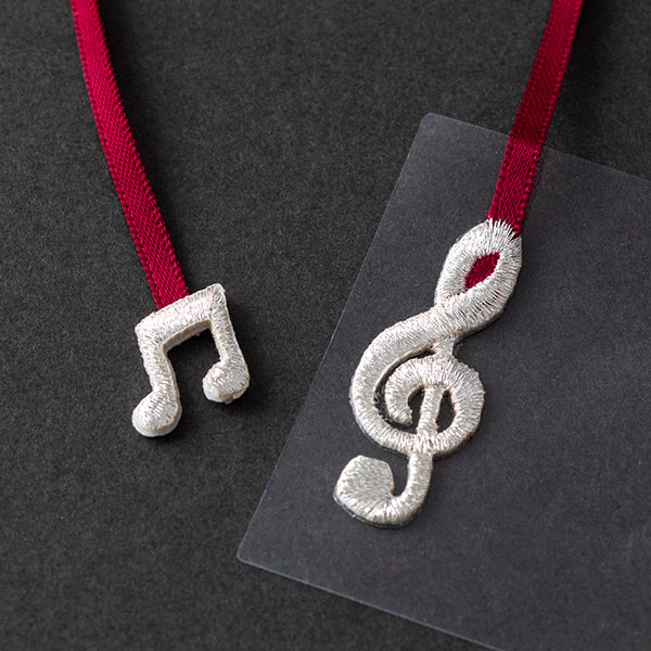 Midori Bookmark Sticker- Embroidered Musical Note
