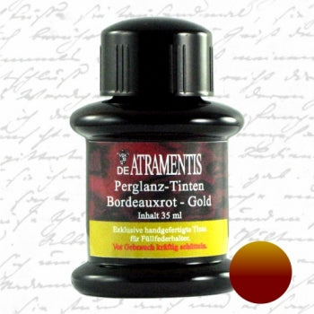 DeAtramentis Pearlescent Bordeaux Red Gold