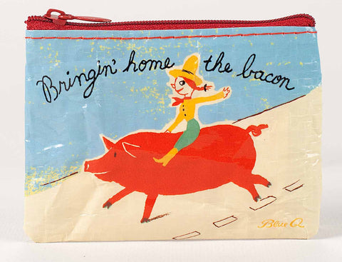 "Blue Q Coin Purse ""Bringin Home The Bacon"""