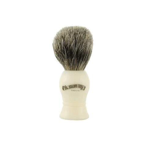 Colonel Conk Shave Brush - Pure Badger - Ivory Handle