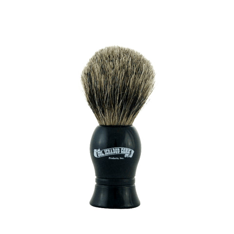 Colonel Conk Shave Brush Pure Badger Black Handle