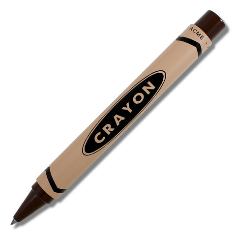 ACME Crayon Chocolate Brown by Adrian Olabuenaga retractable Rollerball