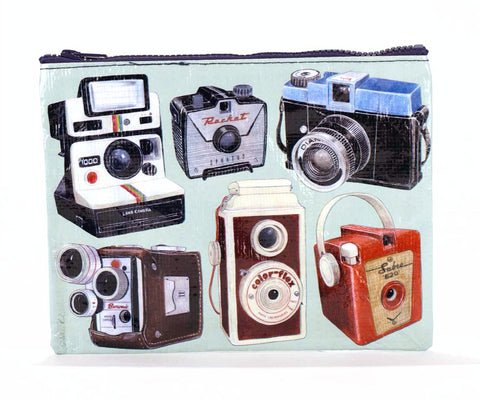 "Blue Q Zippered Pouch ""Cameras"""