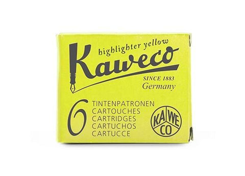 Kaweco Highlighter Yellow Ink Cartridges