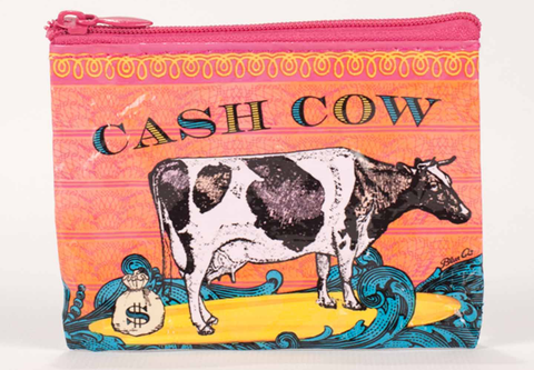 "Blue Q Coin Purse ""Cash Cow"""