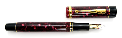 Conway Stewart Churchill Burgundy with Gold Trim