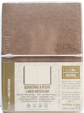 Ciak Natural Notebook Brown 12x17cm