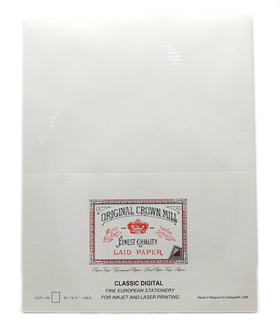 Original Crown Mill A4 Classic Laid Paper