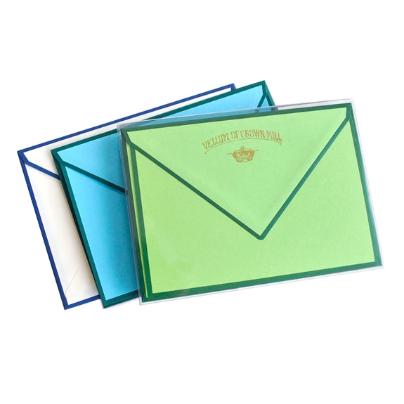 Original Crown Mill Color Edge Note Cards