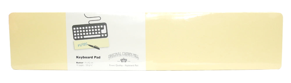 Original Crown Mill Color Vellum Keyboard Note Pad