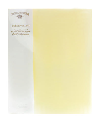 "Original Crown Mill Color Vellum 8.5"" x 11"" Sheets"