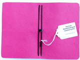 Curnow Bookbinding Pink Leather Back Pocket Journal Cover