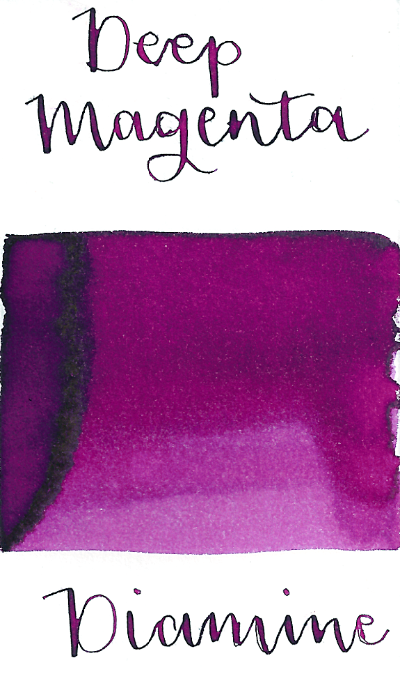 Diamine Deep Magenta is a lively magenta purple fountain pen ink.