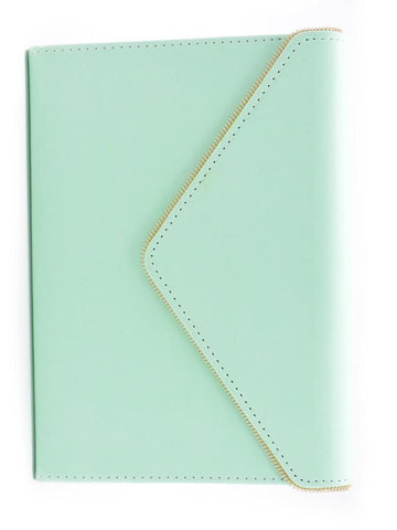 Eccolo Pistachio Zippered Edge Envelope Journal