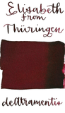 DeAtramentis Elizabeth of Hungary (Thüringen), Bordeaux Red