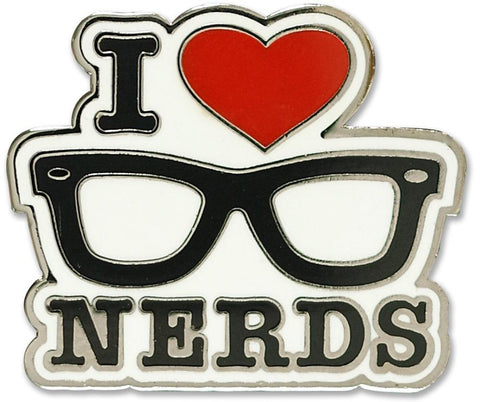"Peter Pauper Press ""I Love Nerds"" Hard Enamel Pin"