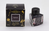Diamine Espresso fountain pen ink is available in a triangular shaped 40ml bottle.