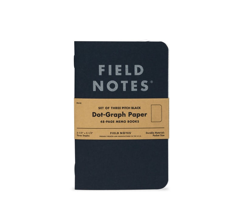 "Field Notes ""Pitch Black"" Memo Book"