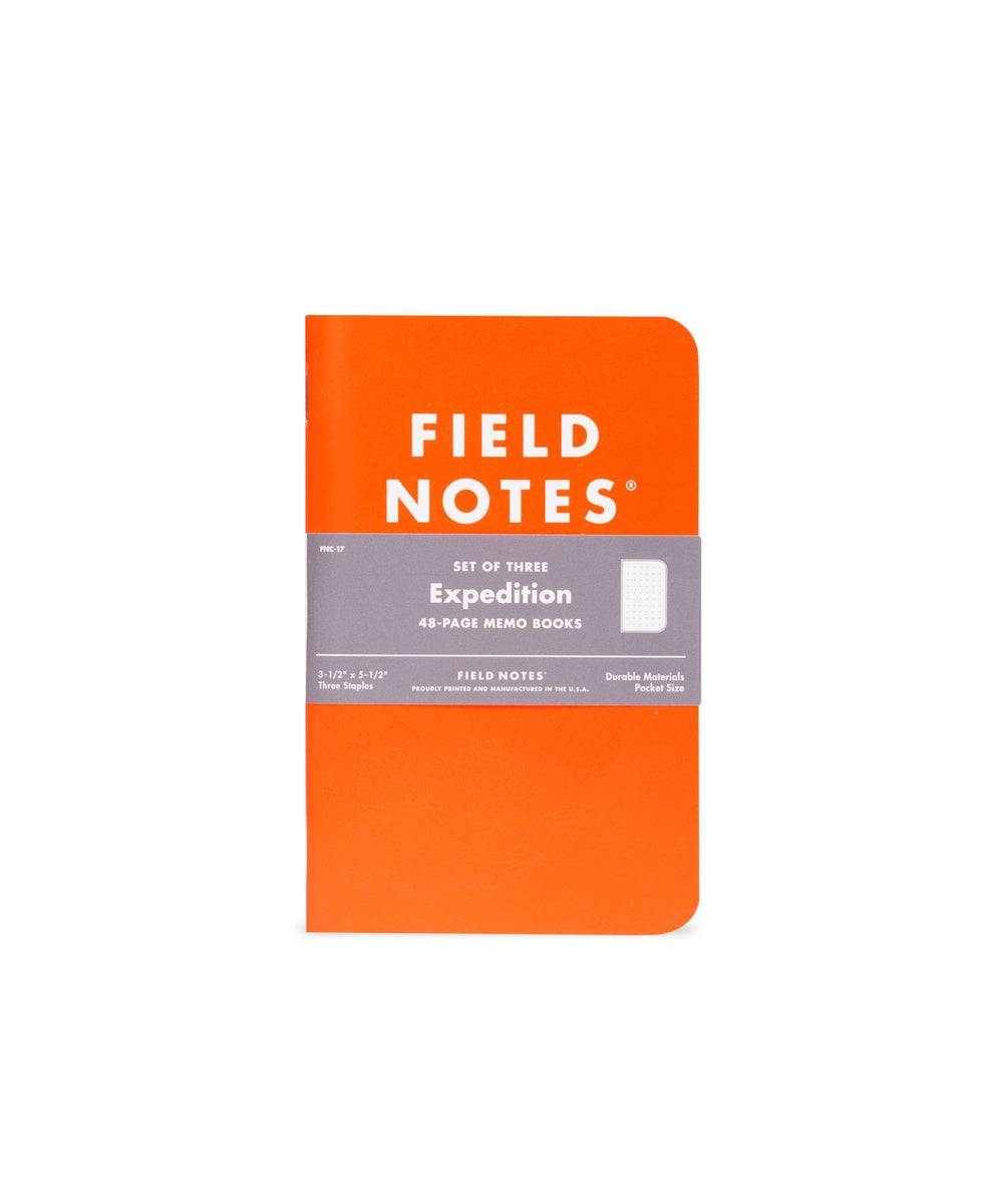 "Field Notes ""Expedition"" Waterproof Notebooks"