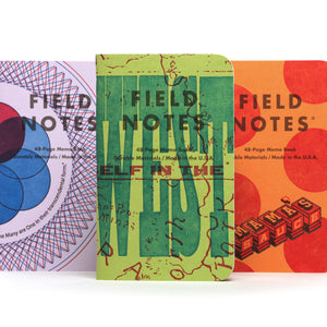 "Field Notes ""United States of Letterpress"" 3-Pack A"