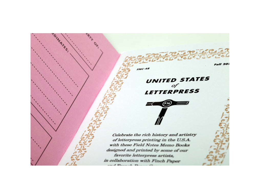 "Field Notes ""United States of Letterpress"" 3-Pack C"