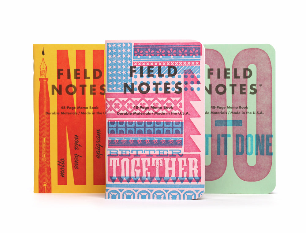 "Field Notes ""United States of Letterpress"" 3-Pack B"