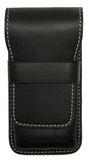 Galen Leather Co. Flap Pen Case for 3 Pens- Black