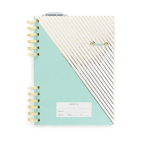 DesignWorks Standard Issue Notebook Foil Stripes Mint