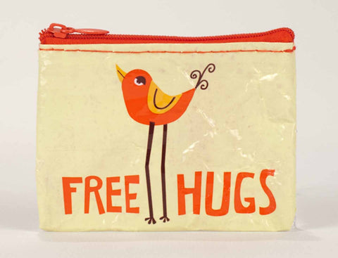 "Blue Q Coin Purse ""Free Hugs"""