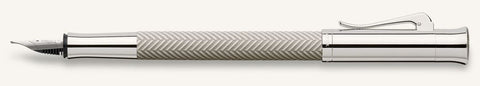 Faber Castell Graf Guilloche Ciselé Light Grey Fountain