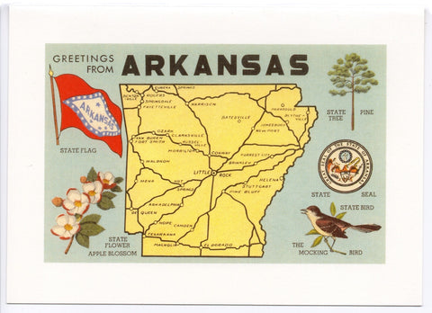"Found Image ""Greetings from Arkansas"""