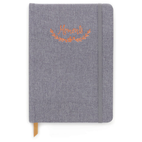 "DesignWorks Grey Floral ""Moments"" Journal"