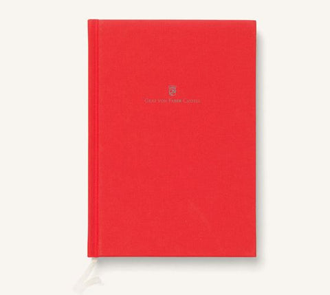 Graf von Faber Castell Linen-Bound A5 Notebook- India Red