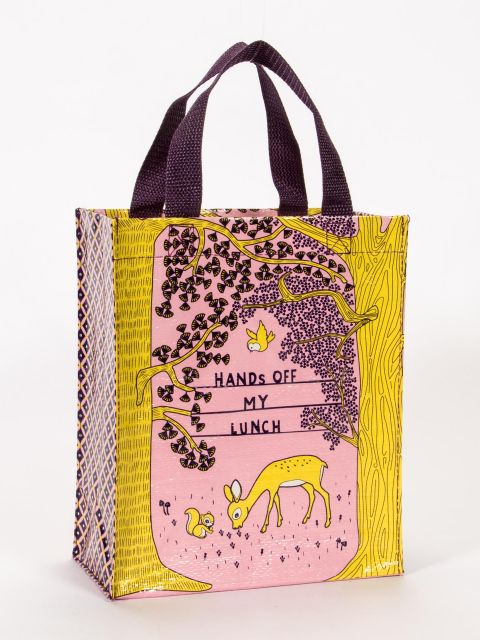 "Blue Q Handy Tote ""Hands Off My Lunch"""