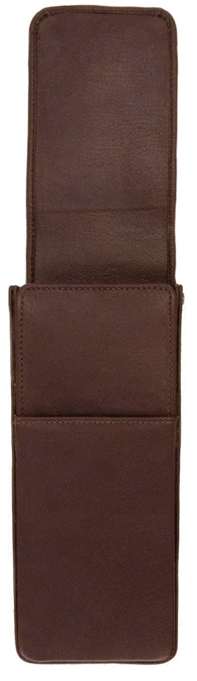 Girologio Hard-Shell 3 Pen Case Antique Brown