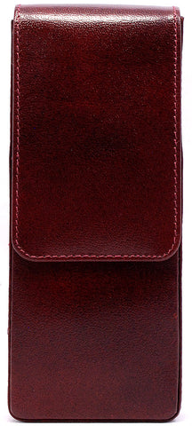 Girologio Hard-Shell 3 Pen Case Oxblood