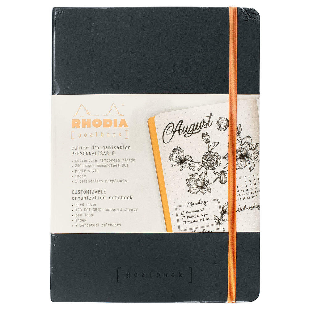 Rhodia A5 Hardcover Goalbook- Black