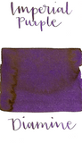 Diamine Imperial Purple is a rich, warm purple fountain pen ink with low shading and medium gold sheen.
