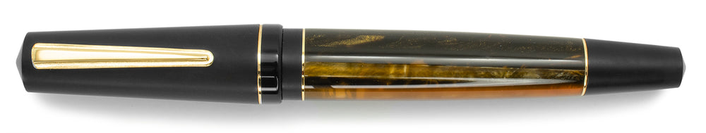 Maiora Impronte Oversize Orange and Black Fountain Pen