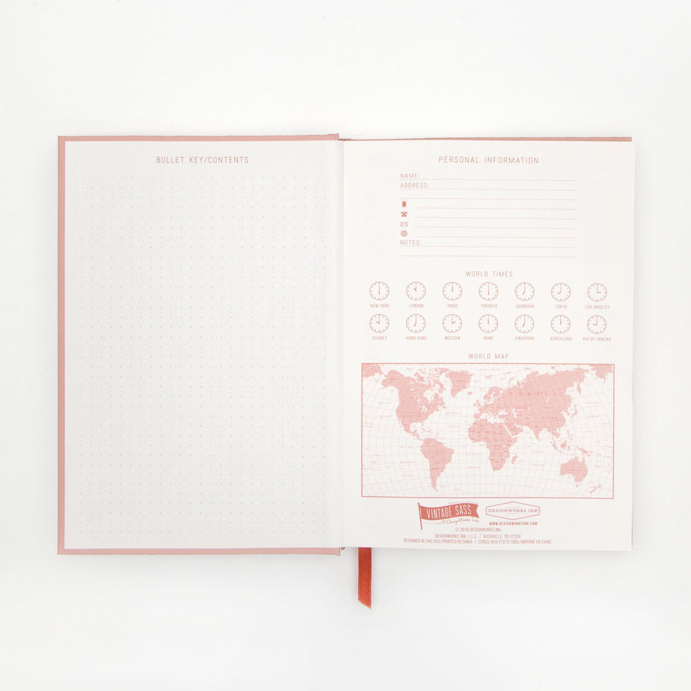 "DesignWorks Vintage Sass Journal | ""Forget It"""