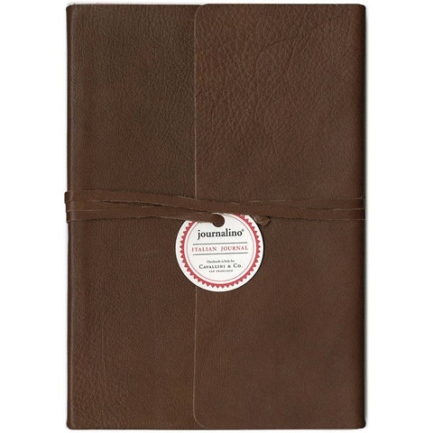 "Cavallini & Co. Brown Journalino Slim 6"" x 8"""