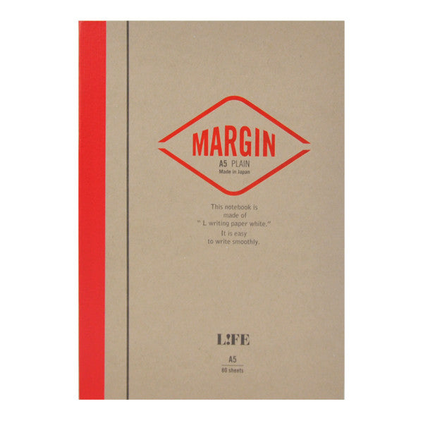 Life Stationery Margin A5 Side Bound Notebook