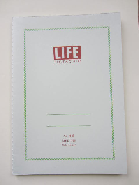 Life Stationery Pistachio Note A5 Side Bound Notebook